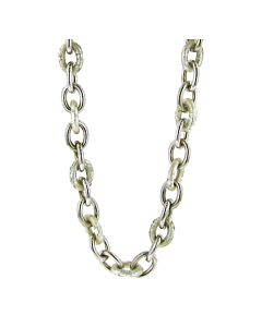 Soho Link Necklace with Silver Foliage