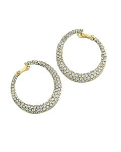 Wraparound Diamond Hoop Earrings