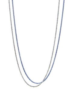 Blue and White Gold Chain