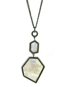 Leslie Greene's Moonstone and Black Diamond Pendant
