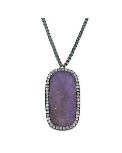 Charoite and Rutilated Quartz Pendant from Di Massima
