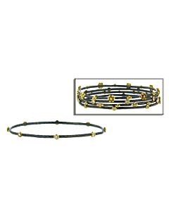 Bezel Set Two Tone Diamond Stacking Bracelet