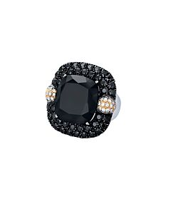 Onyx and Black Spinel Ring from Ancora