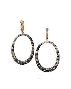 Spectacular Cognac Diamond Earrings