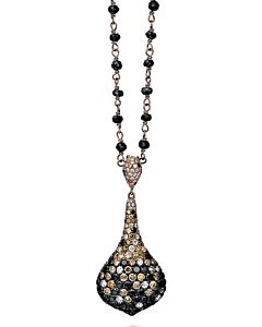 Black, White & Cognac Diamond Pendant