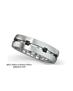 Men's Enhanced Black Diamond Eternity Ring