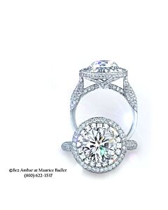 Blaze and Round Diamond Ring Mounting