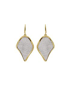 St Silver & Mesh Two Tone Earrings