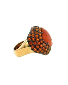 Coral & Orange Topaz Ring from Ancora