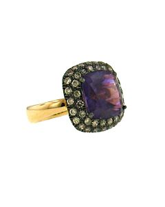 Amethyst & Cognac Diamond Ring from Ancora