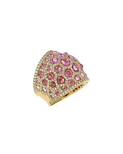 Diamond & Pink Sapphire Ring from DiGo