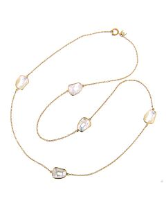 36 Inch Mother of Pearl Puzzle Necklace