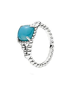 PANDORA VIBRANT SPIRIT RING, SCUBA BLUE