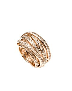 Dimensional Cognac Diamond Ring