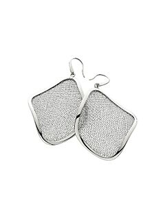 Dangling St Silver & Mesh Earrings