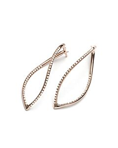 Rose Gold Diamond Twist Earrings