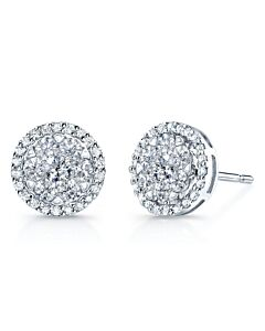 14k Diamond Halo Earrings