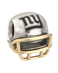 retired 14K/sterling silver giants helmet charm