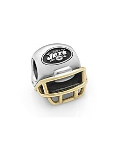 retired 14K/sterling silver jets helmet charm