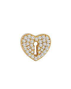 FOURKEEPS White Topaz Keyhole Heart