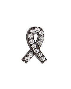 FOURKEEPS White Topaz Awareness Ribbon Charm
