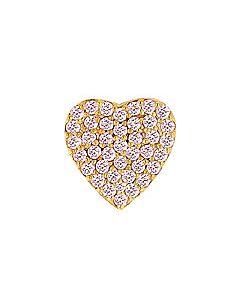 FOURKEEPS Pink Tourmaline Pave Heart Charm