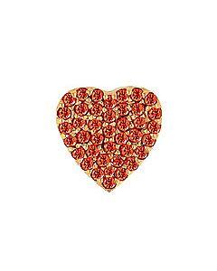FOURKEEPS Garnet Pave Heart Charm