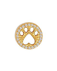 FOURKEEPS White Topaz Cutout Pawprint