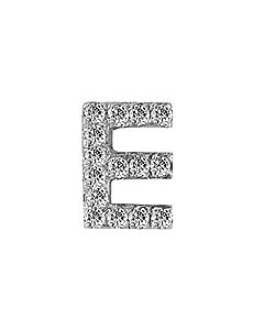 FOURKEEPS White Topaz Initial E Charm