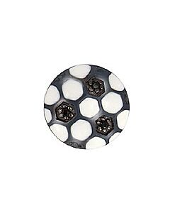 FOURKEEPS Black & White Soccer Ball Charm