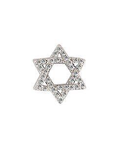 FOURKEEPS White Topaz Fine Star of David