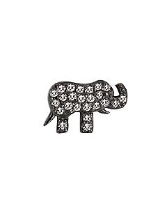FOURKEEPS White Topaz Elephant Charm