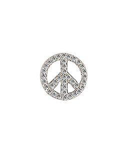 FOURKEEPS White Topaz Peace Sign
