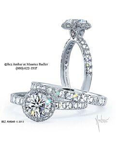 Round and Blaze Diamond Engagement Ring