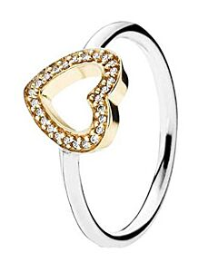 14K/sterling silver symbol of love ring, size 52