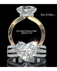 18k Blaze Diamond Ring Mounting
