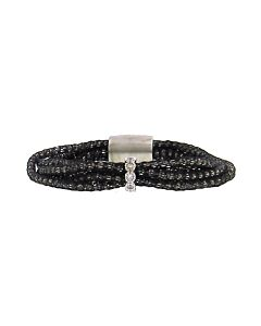 St Silver Au Silk White Sapphire Bracelet