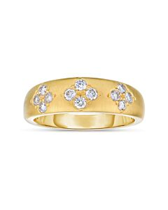 Brushed Gold and Diamond Band