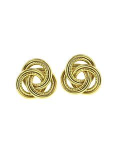 Estate Collection 14k Gold Trinity Circle Earrings