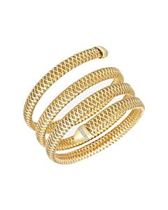 Roberto Coin Primavera 4 Row Flexible Diamond Snake Bracelet