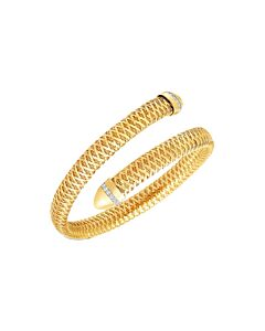 Roberto Coin Primavera Diamond Flexible Snake Bracelet
