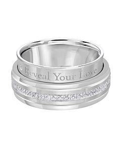 Men's Secret Message Wedding Band
