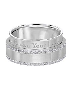 Men's Secret Message Diamond Wedding Band