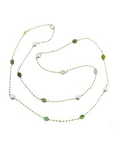 Cultured South Sea Pearls, Green Tourmalines & Diamonds!