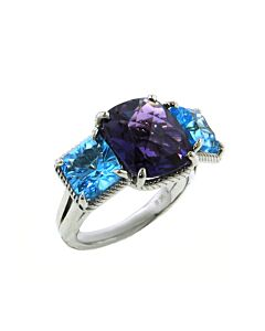 AMETHYST & BLUE TOPAZ AURA COLLECTION RING