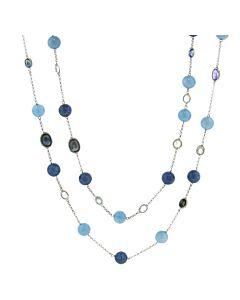 Aqua, Kyanite, Sapphire Necklace from Joon Han