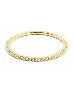Yellow Gold Stretch Pearl Bracelet