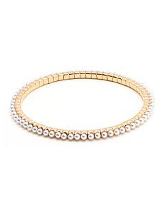 Rose Gold Stretch Pearl Bracelet