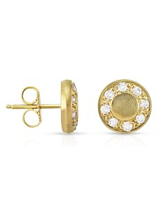 Yellow Gold & Diamond Earrings