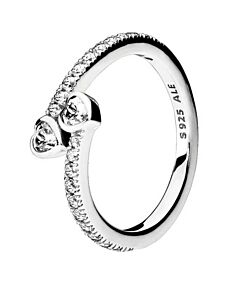 sterling silver forever hearts ring, size 54